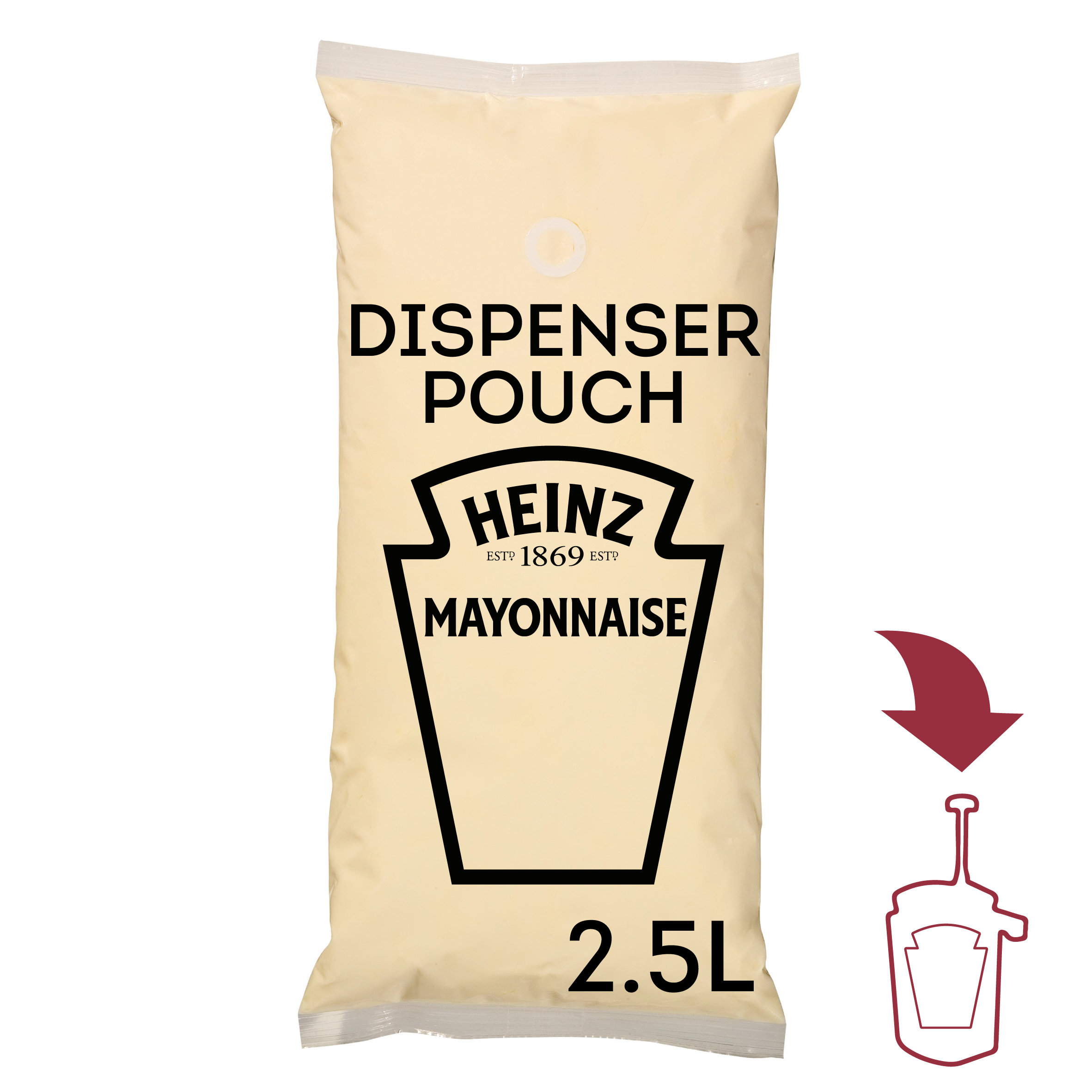 Heinz Mayonnaise 2.5L Dispenser pouch