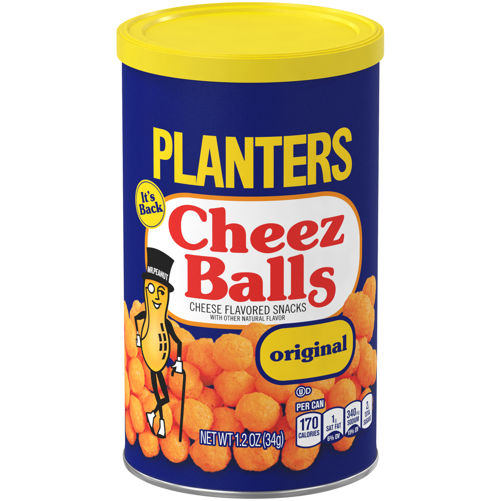 Planters Cheez Balls, 1.2 oz Canister image