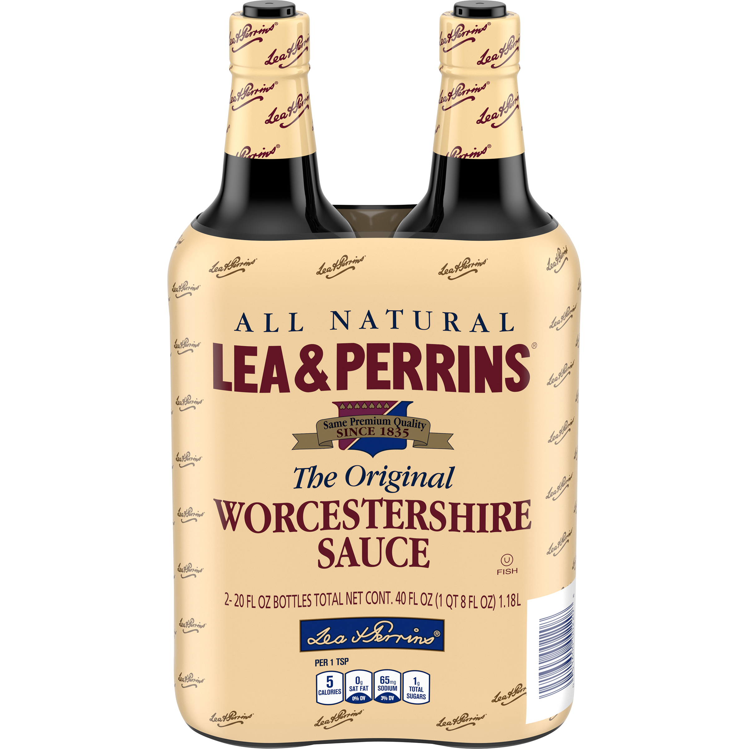 LEA & PERRINS The Original 20 Oz Worcestershire Sauce 2 PK GLASS BOTTLES image