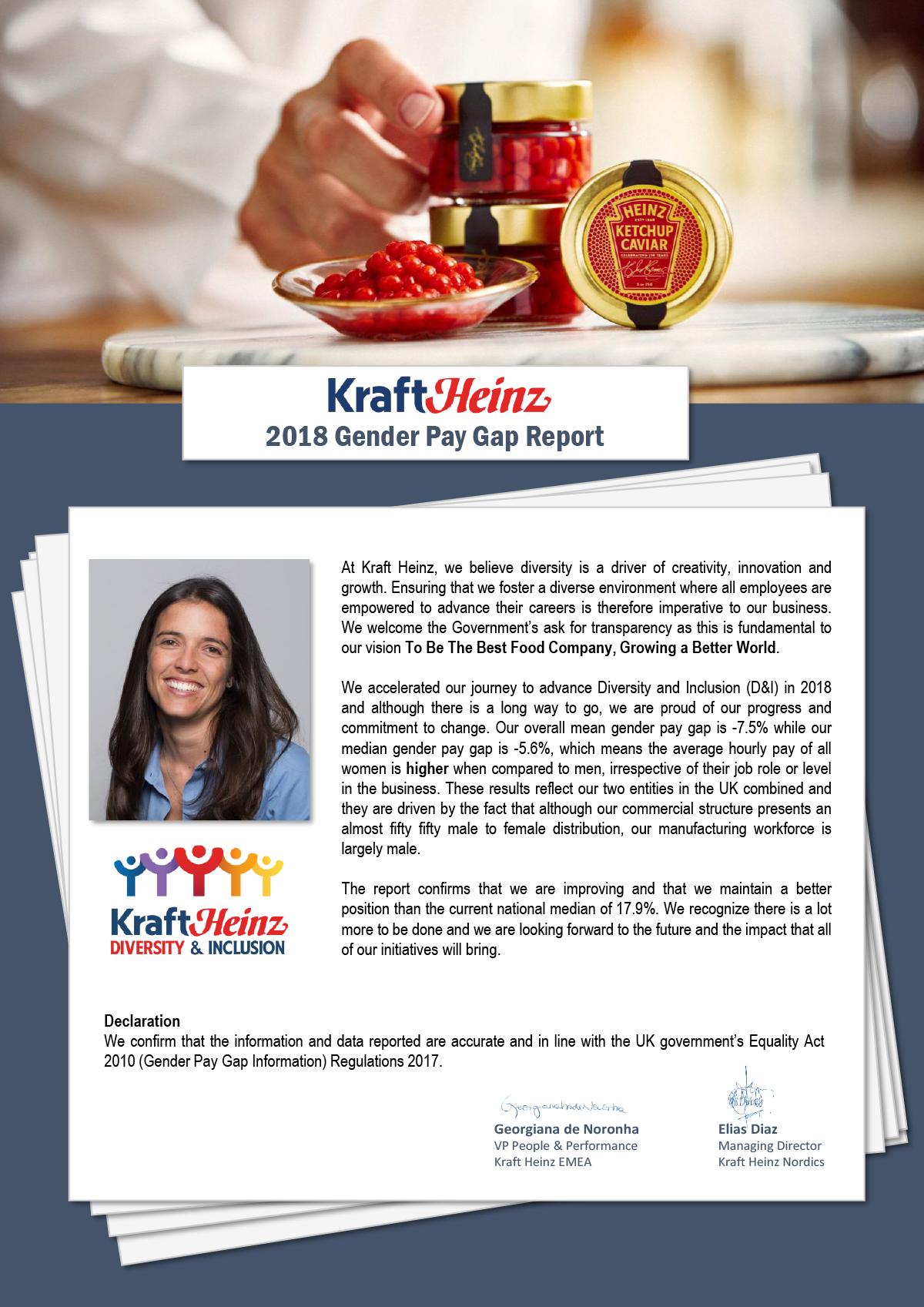 Kraft Heinz Gender Pay Gap slide 1