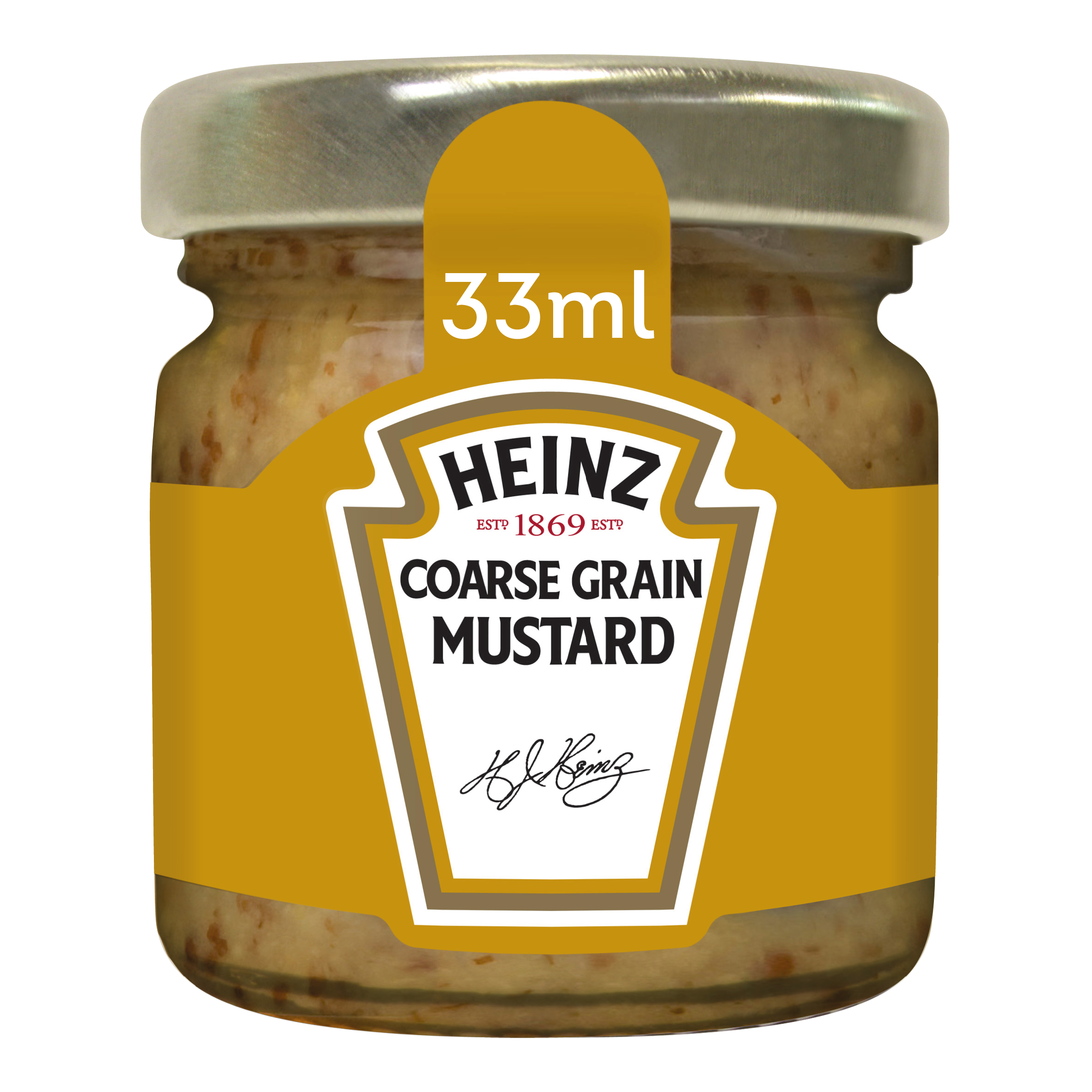 Heinz Mustard 33ml Premium Mini Jars image
