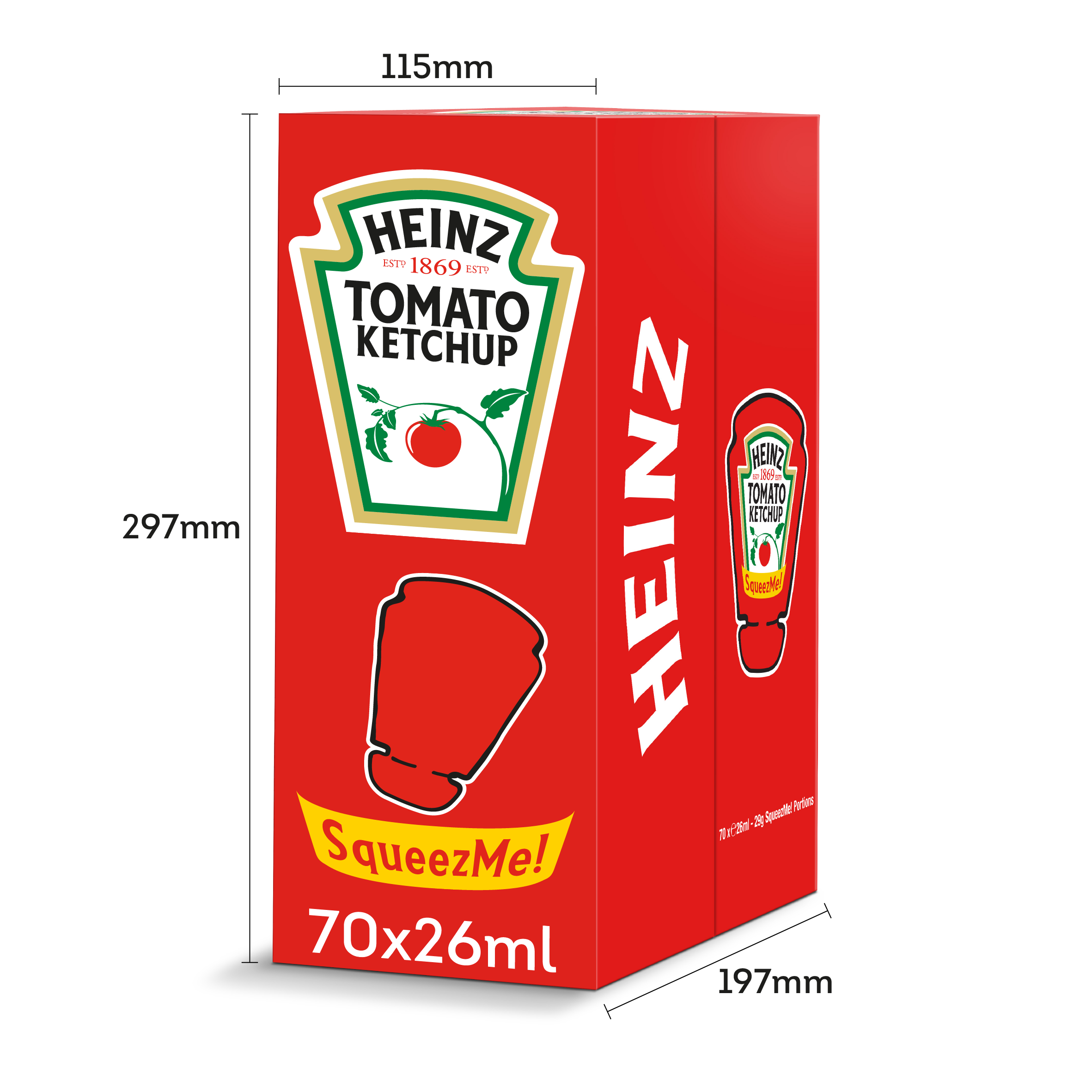 Heinz Tomato Ketchup Squeeze-Me 26ml