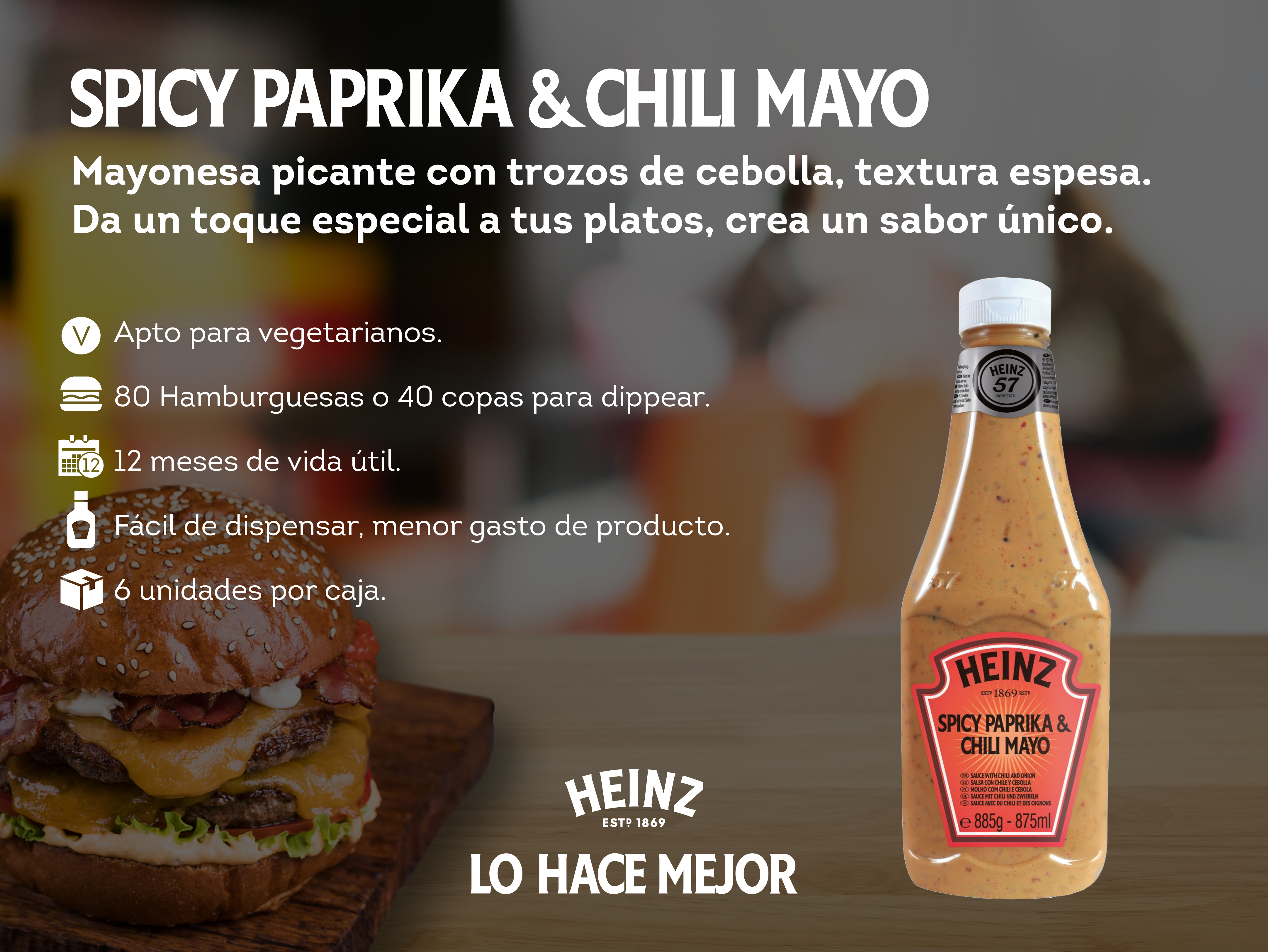 Heinz Spicy Paprika & Chili Mayo 875ml