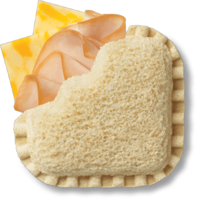 LaunchBox Jumpin' Turkey & Colby Jack Frozen Sandwiches, 4 ct Box bread