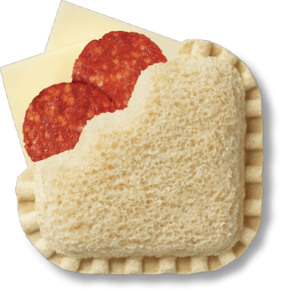 LaunchBox Poppin' Pepperoni & Monterey Jack Frozen Sandwiches, 4 ct Box bread