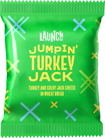 LaunchBox Jumpin' Turkey & Colby Jack Frozen Sandwiches, 4 ct Box