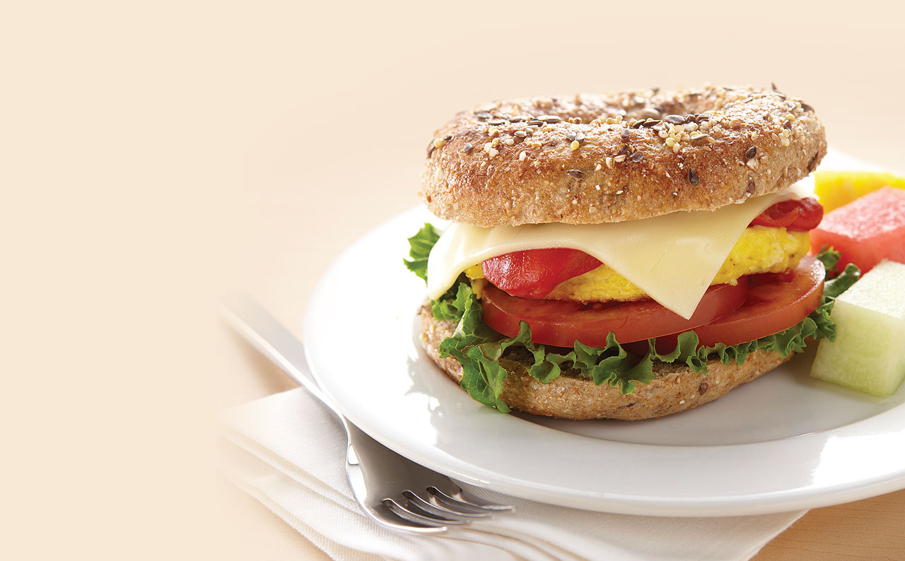 Garden Veggie Breakfast Bagel