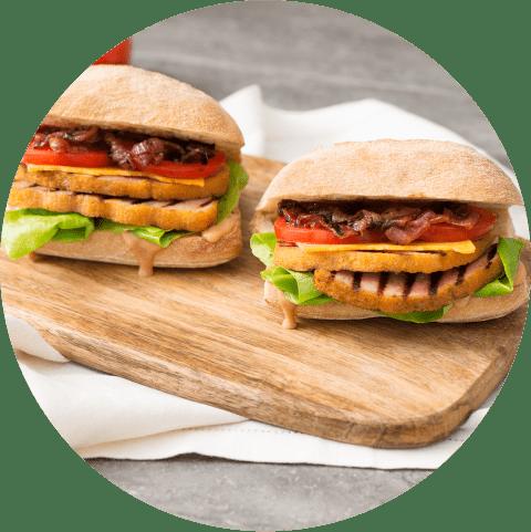 Enrobed Sandwiches