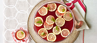 Get the party started with a pitcher of punch