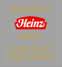 Welcome to Heinz Europe please select your country
