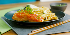 Oven Baked Sweet Chilli Salmon Stir Fry image