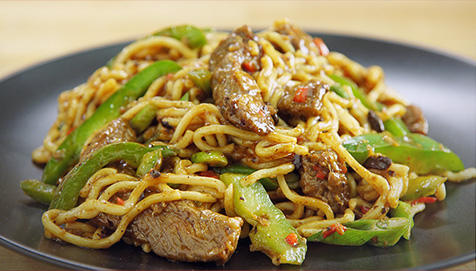 Cantonese Beef & Black Bean Noodles image