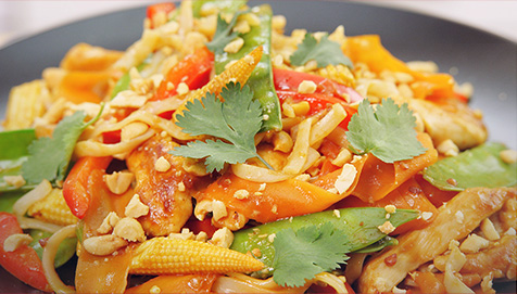 Chicken Pad Thai with Crunchy Veg