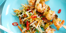 Asian Coleslaw With Thai Chilli Prawn Skewers