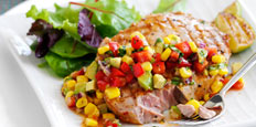 Sweet & Sour Salsa with Tuna