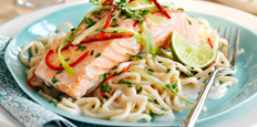 Thai Salmon and Noodles