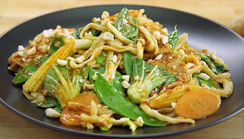 Thai Pork Peanut Satay Stir Fry