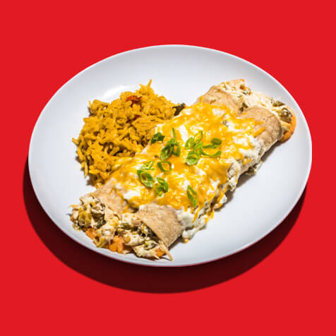 Chicken and Sweet Potato Enchiladas Verde image