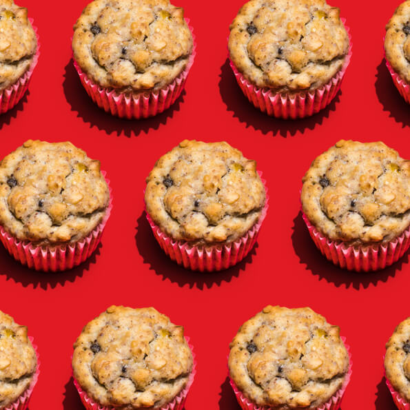 Banana Nut Bread Muffins with Flaxseed image