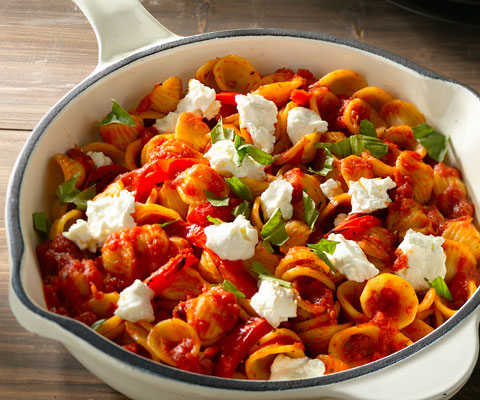 Sweet Pepper Pasta with a Twist