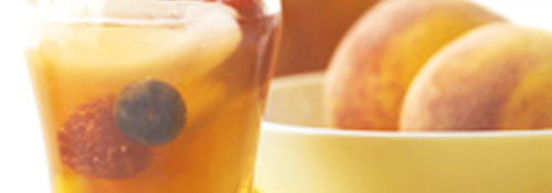peachy iced tea sangria image
