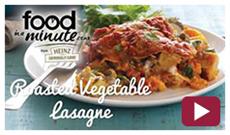 Roasted Vegetable Lasagne Video