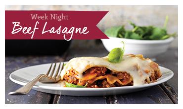 Week Night Beef Lasagne recipe image