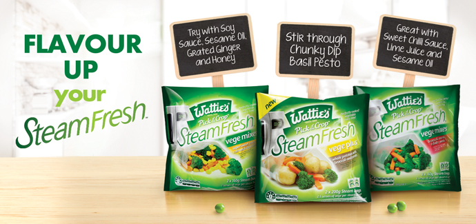 Flavour up your SteamFresh veges