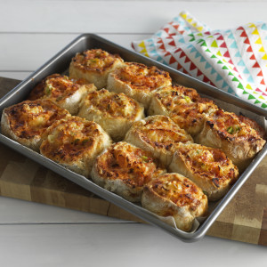 Cheese and Tomato Pinwheel Scones