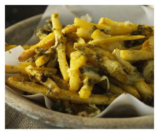 Cheesy Pesto Fries