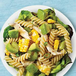 Chicken, Corn & Avocado Pasta Salad