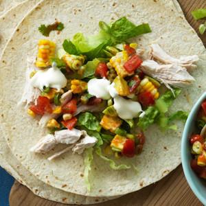 Easy Chicken and Salsa Burritos