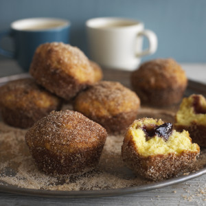 Jam & Cinnamon Doughnut Muffins