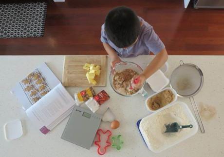 Kids Baking Homemade Gingerbread Cookies 1