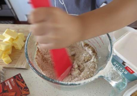 Kids Baking Homemade Gingerbread Cookies 2