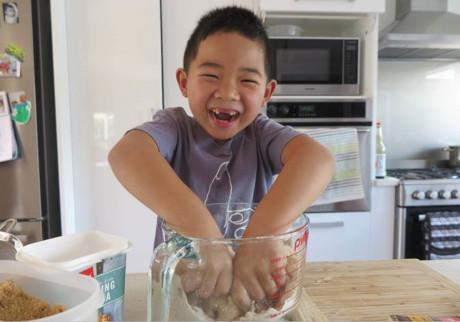 Kids Baking Homemade Gingerbread Cookies 3