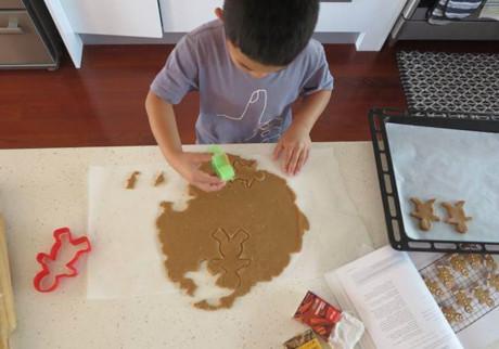 Kids Baking Homemade Gingerbread Cookies 4