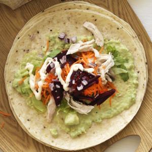 Kiwi Chicken and Avocado Mayo Wraps