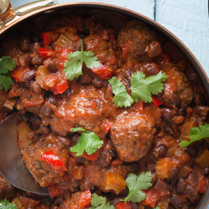 Meatballs in a Spicy Black Bean Sauce