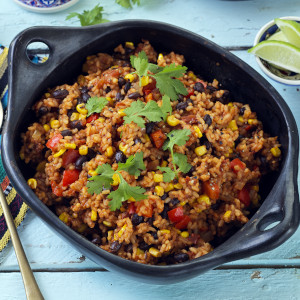 Mexican Black Beans & Tomato Rice