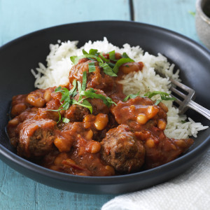 Mexican Style Beans and Meatballs