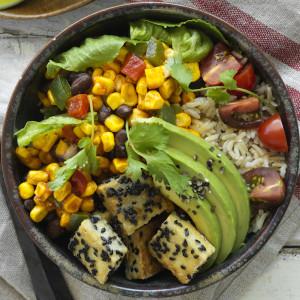 Mexican Tofu Burrito Bowl