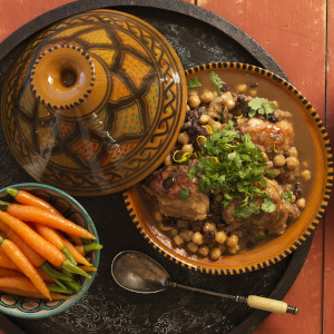 Moroccan Chicken and Chickpeas Tagine