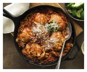 One Pan Italian Chicken & Orzo