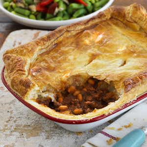 Rustic Mince, Beans 'N' Cheese Pie