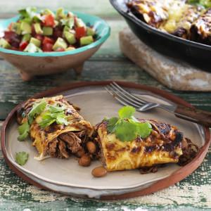 Slow Cooked Beef Enchiladas