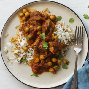 Slow Cooked Indian Lamb and Chickpea Curry