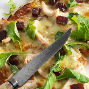 Smoked Chicken and Quince Paste Pizza