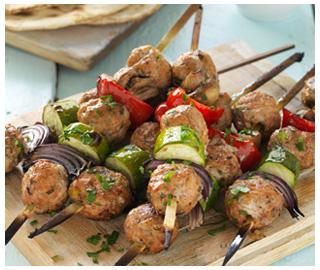 Pork Ball Kebabs
