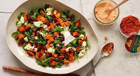 Roast Pumpkin and Sundried Tomato Salad